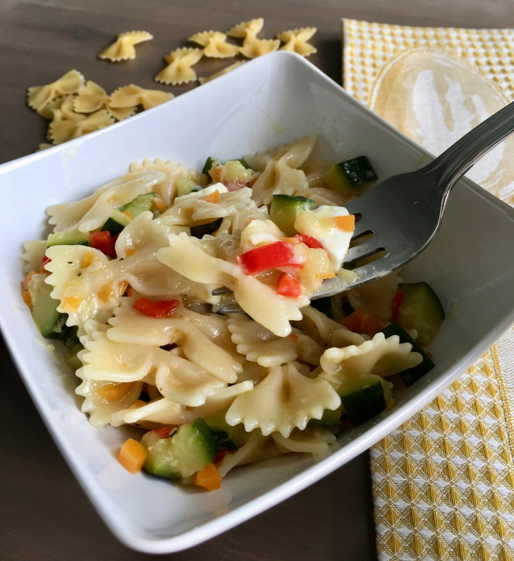 PopsicleSociety-Farfalle with veggies
