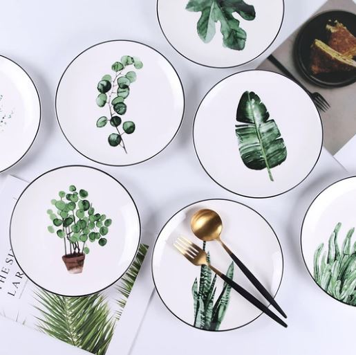 PopsicleSocietyShop_Green plants ceramic plate