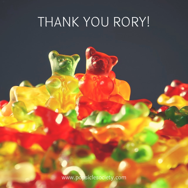 Thank you Rory