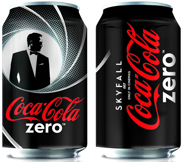 Coke Zero Skyfall Cans - courtesy of popsop.com