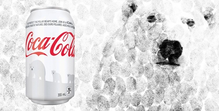 Coca-Cola Switches from Red to White for Polar Bears