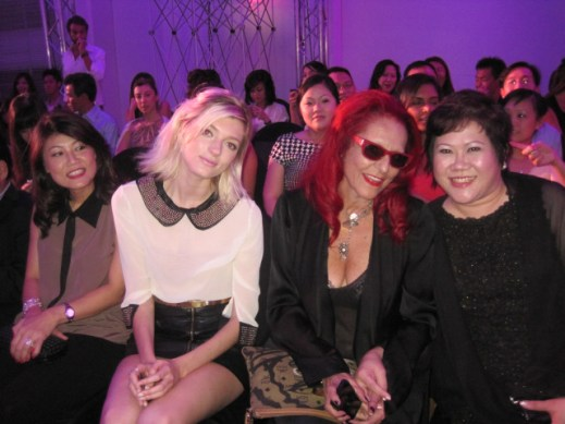 Front row: Sophie Sumner & Patricia Field