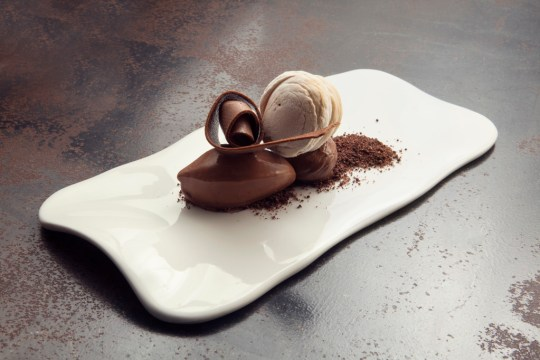 Textures of chocolate and kaya