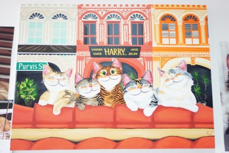 Cat Art featuring the residents at The Cat Museum