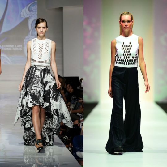 Then & Now: Rebecca's design last year (left) and this year (right)