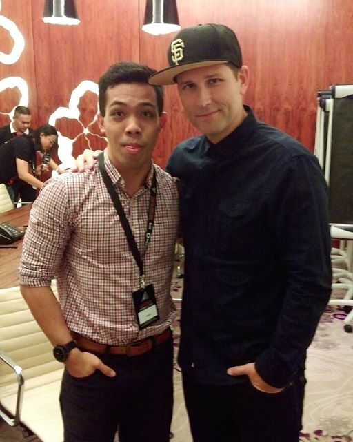 Kaskade, with Popspoken editor-in-chief Kyle Malinda-White