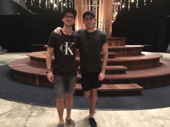 Marcus Butler (left) and Alfie Deyes (right) at Digital Matters 2015