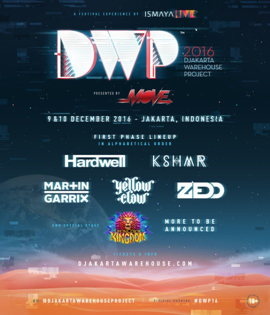 Djakarta Warehouse Project Announces Hardwell, Martin Garrix And Zedd In 2016 Line-Up