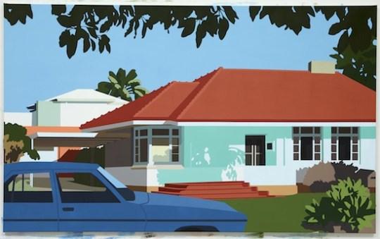 House, 2016, acrylic on canvas, 122 x 200cm.