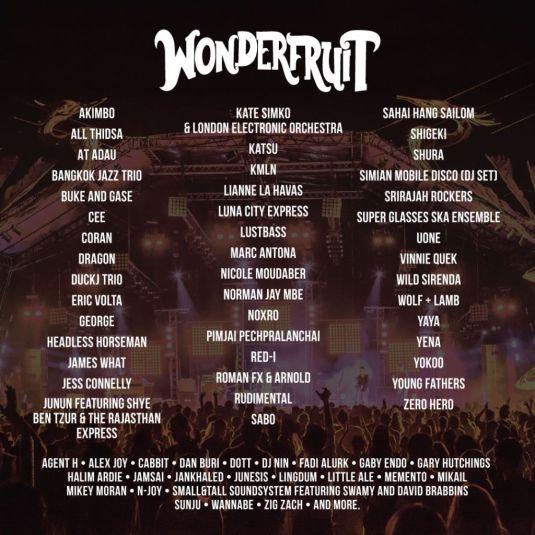 Wonderfruit's 2017 Line-up