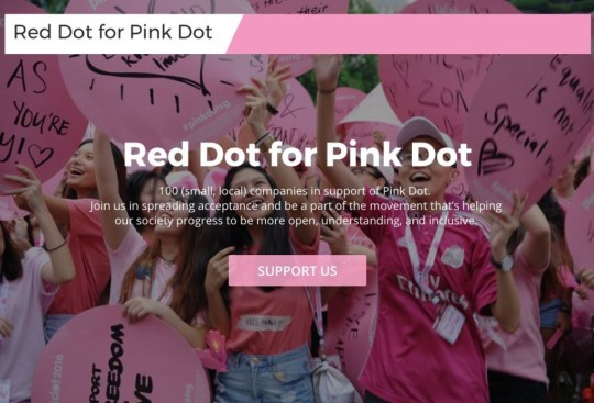 red dot for pink dot