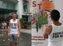 Jee Leong Koh SAFRA Tank Top - Popspoken