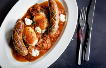 Poached Eggs and Merguez 2