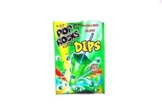 Image Pop Rocks Dips - Sour Apple Popping Candy Lollipop