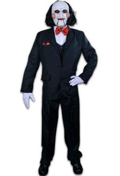 Image Saw - Billy Puppet Adult Costume & Mask Combo