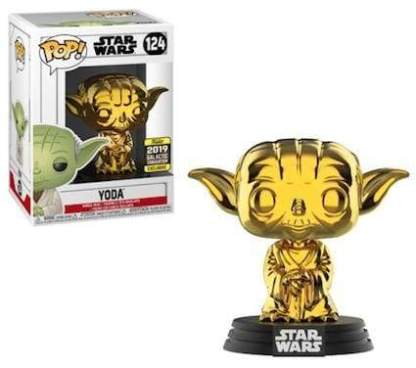 Image Star Wars - Yoda Gold Chrome Pop! SW19 RS