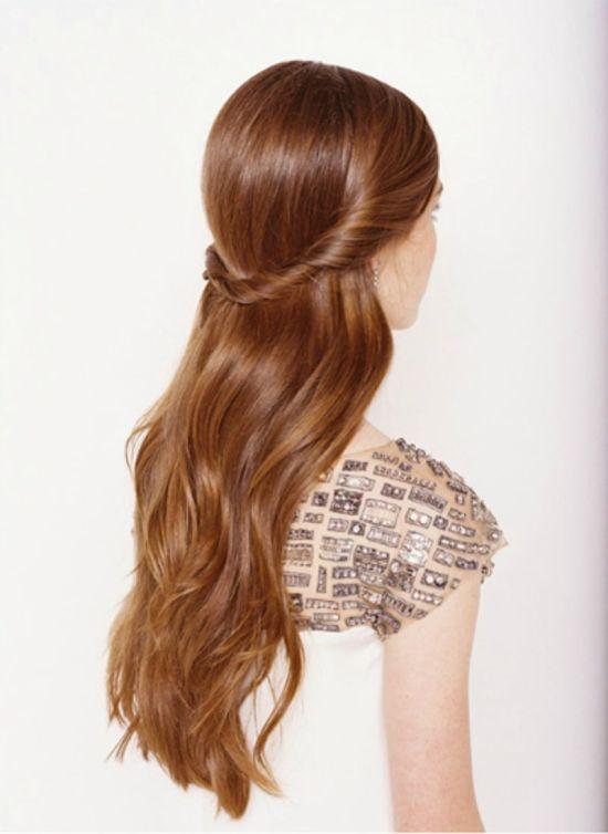 Classical half-up wedding hair