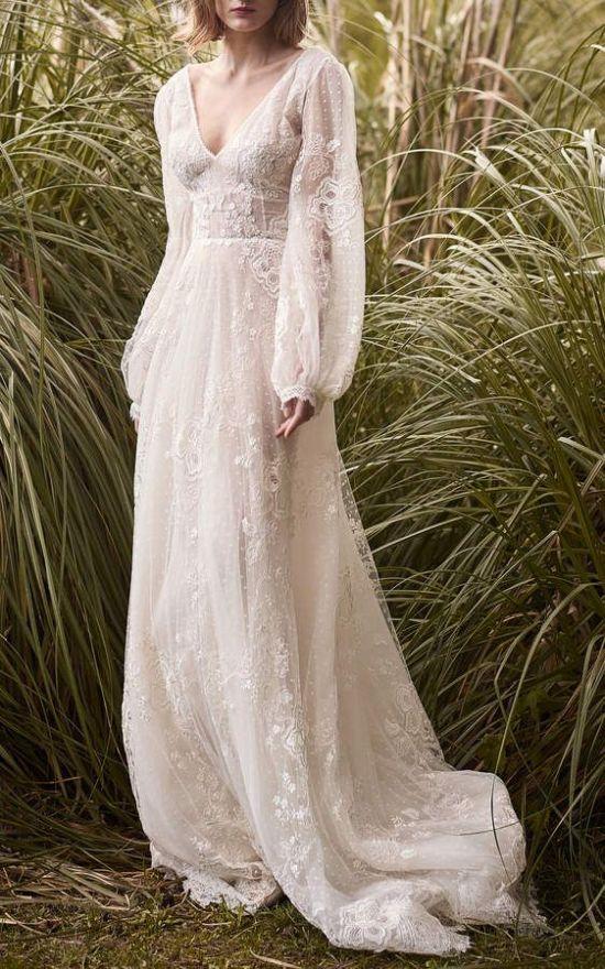 boho styled wedding dress