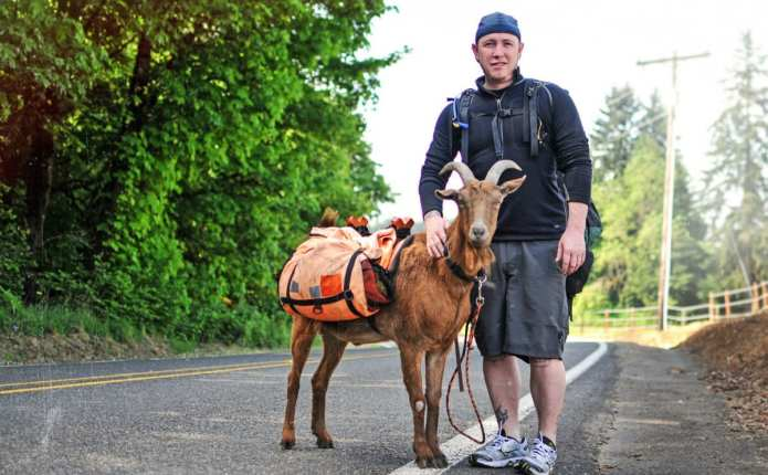 Man with Goat