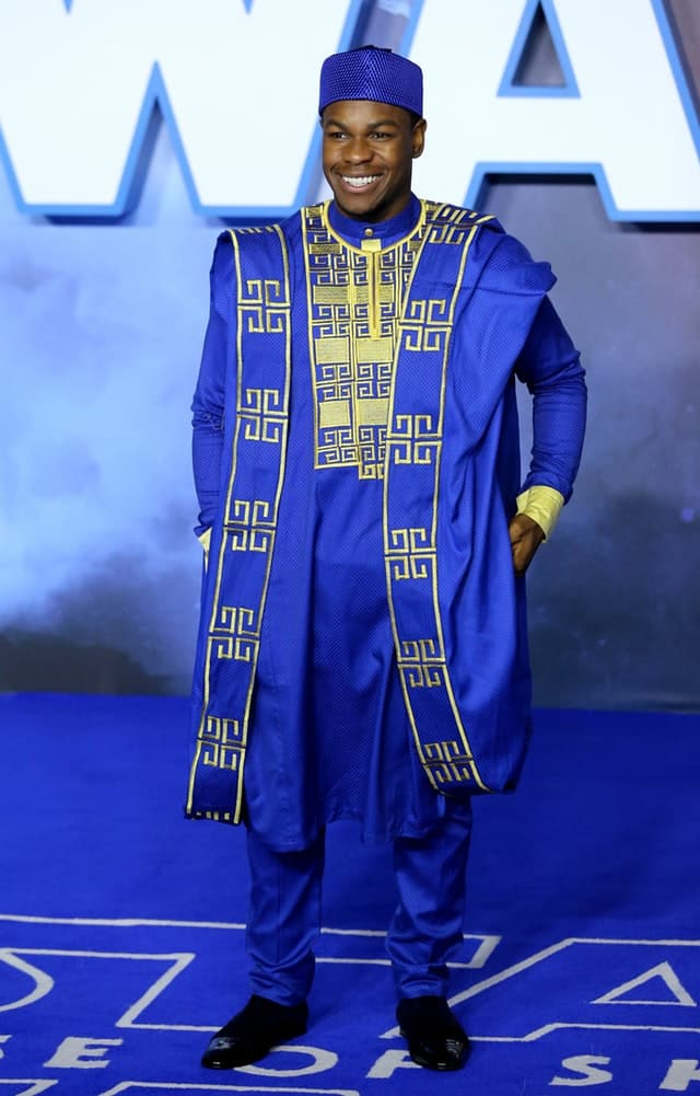 Boyega in traditional Nigerian outfit