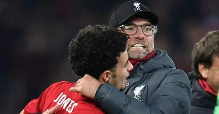 Liverpool victory: Jurgen Klopp Curtis Jones