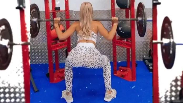 Jessika Power gym fail: MAFS star can't do squats