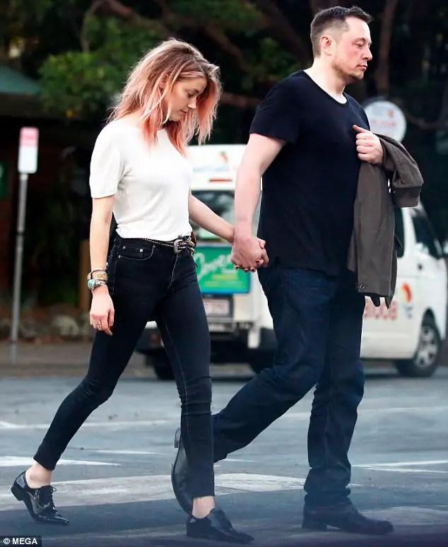 Unhappy couple in public