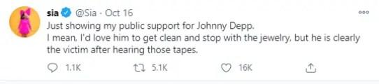 Sia Johnny Depp