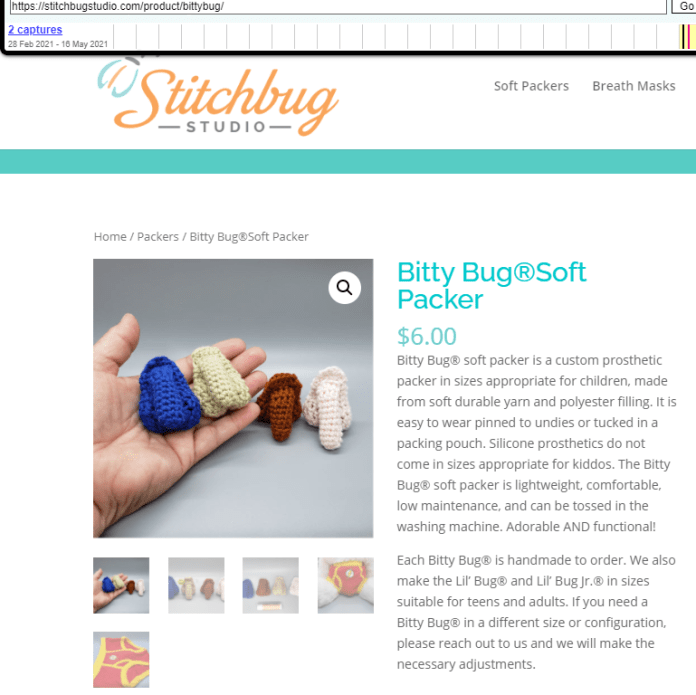 Bitty Bug Soft Packer for children and kiddos