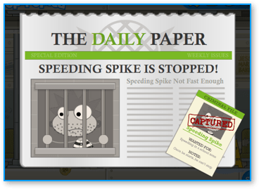 Captured Speeding Spike in Poptropica Super Power Island
