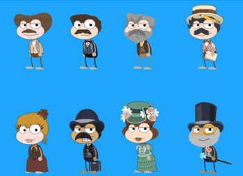 Poptropica Mystery Train Island Characters