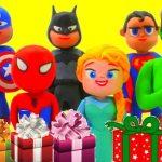 maxresdefault 17 - Superhero Christmas Pranks Frozen Elsa Hulk Spiderman Play Doh Stop Motion Full Episodes