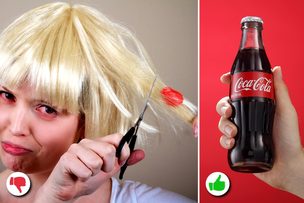 10 Amazing Uses You Never Knew About for Coca-Cola - Coca-Cola Used as Gum Remover