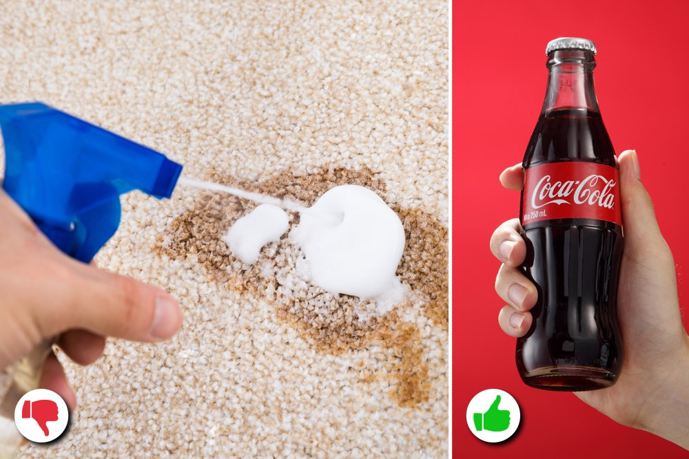 10 Amazing Uses You Never Knew About for Coca-Cola - Coca-Cola Used as Stain Remover
