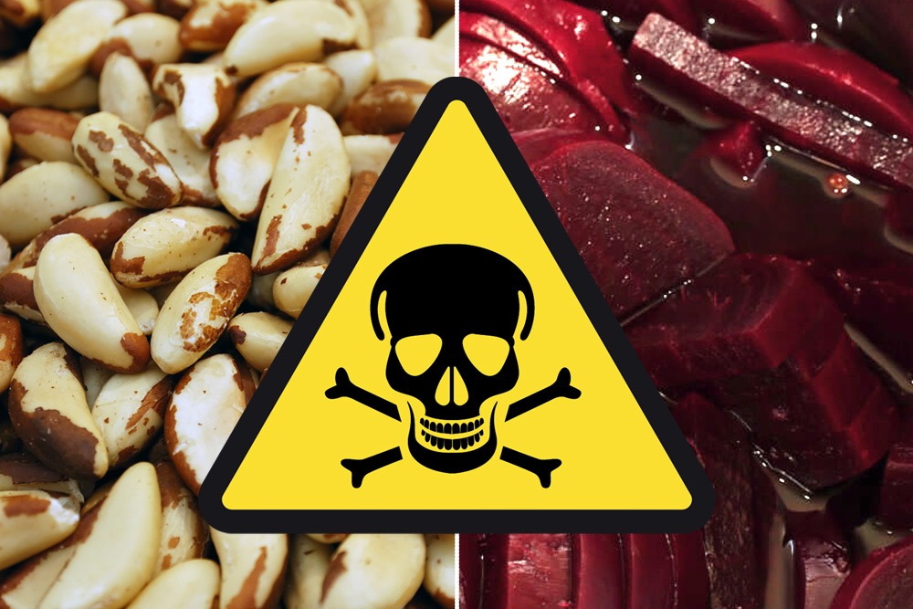 Ten Foods That Are Bad and You Should Never Eat - Brazil Nuts and Beets