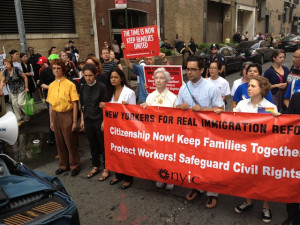 Immigration justice protest during Obama era.