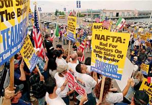 NAFTA border protest