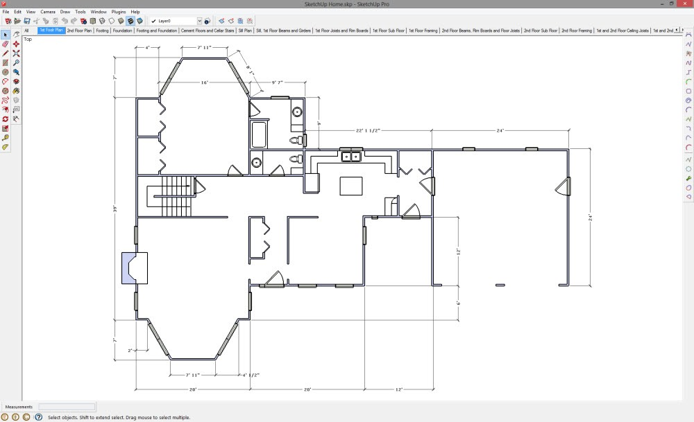 Download Sketchup Floor Plans Templates Free