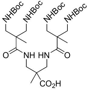 Молекула дендримера, используемая в качестве матрицы для функционализации поверхности титана