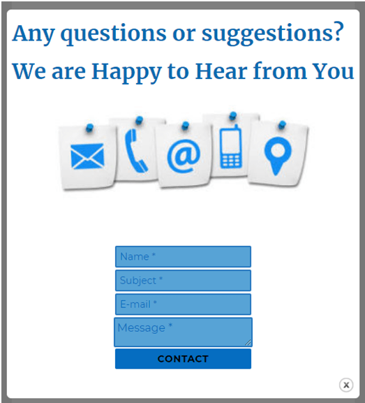 Contact form popup to enhance communication