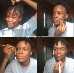 Make-up artist paints her face to look like BBNaija star, Laycon(Photos)