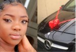 """""""I can't drive"""" – Dorathy declares after receiving Benz as birthday gift (Photos)"""