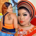 """""""My father has disowned me"""" – Lady with Bobrisky's tattoo laments (Video)"""