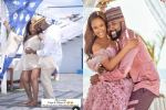 Watch Banky W and Adesua vibing to a song during baby shoot (Video)