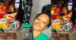Lady shows off food items she purchased with just ₦500 (Photos)