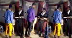 See What Pastor Was Spotted Putting In The Mouth Of His Church Members In Broad Daylight(Video)