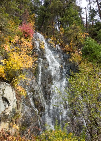Yes, it is Fall and there are fall colors at the lower elevations