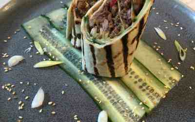 5 Ingredient Hoisin Duck Wraps