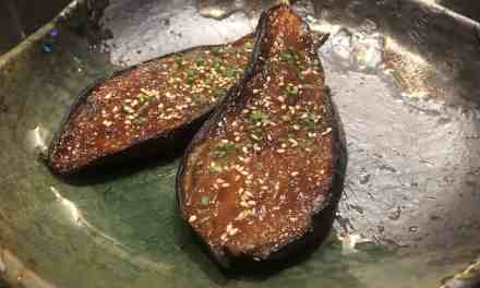 Sweet Miso baked aubergine