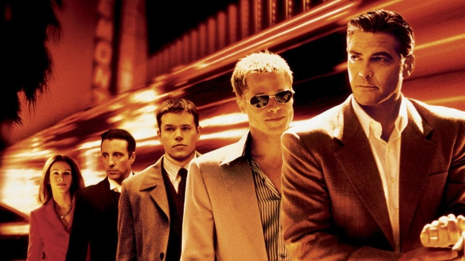 The 2001 remake of Ocean's Eleven, starring George Clooney and a bunch of his mates.